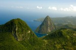 The Pitons on a beautiful day in St. Lucia